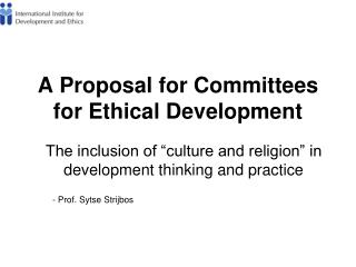 A Proposal for Committees for Ethical Development