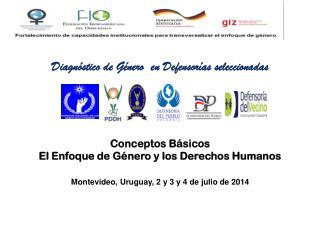 Conceptos Básicos  El Enfoque de Género y los Derechos Humanos
