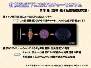有限温度下におけるチャーモニウム