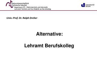 Univ.-Prof. Dr. Ralph Dreher