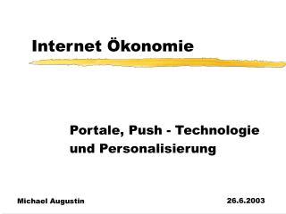 Internet Ökonomie