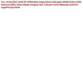 web IHSG dibuka naik tipis Suci