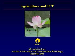 Agriculture and ICT