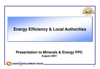 Energy Efficiency & Local Authorities