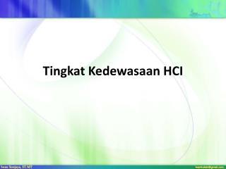 Tingkat Kedewasaan HCI