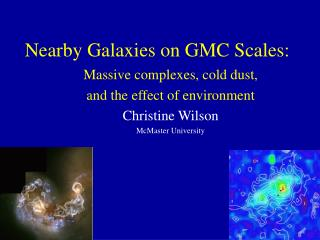Nearby Galaxies on GMC Scales: