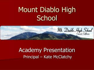 Mount Diablo High School