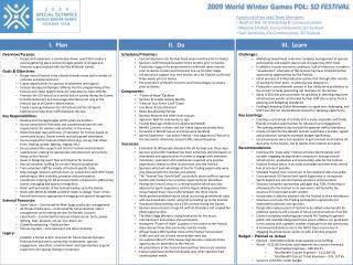 2009 World Winter Games PDL:  SO FESTIVAL