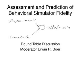 Assessment and Prediction of Behavioral Simulator Fidelity