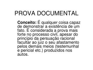 PROVA DOCUMENTAL