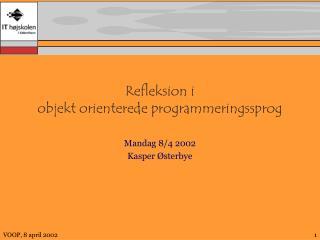 Refleksion i objekt orienterede programmeringssprog