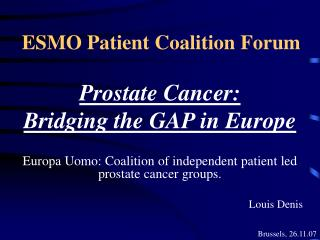 ESMO Patient Coalition Forum