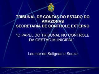 TRIBUNAL DE CONTAS DO ESTADO DO AMAZONAS SECRETARIA DE CONTROLE EXTERNO