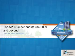 The API Number and its use 2009 and beyond