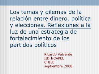 Ricardo Valverde IIDH/CAPEL CHILE  septiembre 2008