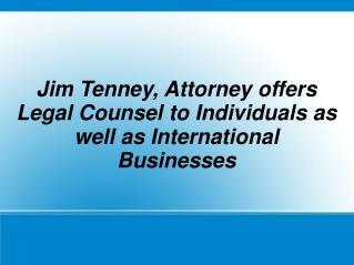 Jim Tenney Attorney