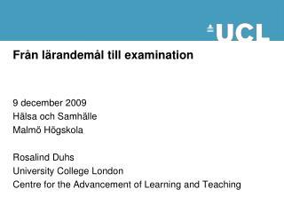 Från lärandemål till examination
