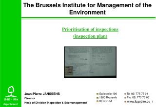 The Brussels Institute for Management of the Environment