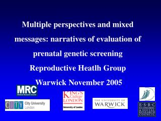 Social Implications of  Genetic Prenatal Screening in Pregnancy