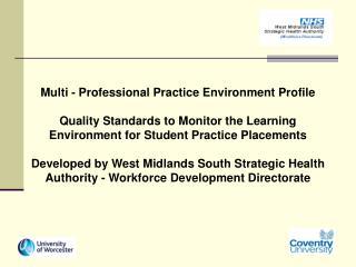 Multi - Professional Practice Environment Profile