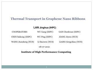 Thermal Transport in Graphene Nano Ribbons