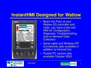 InstantHMI Designed for Watlow
