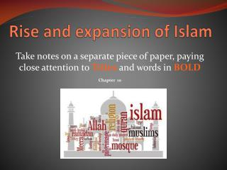Rise and expansion of Islam