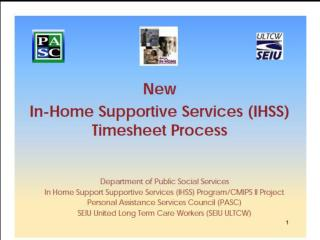 IHSS New Timesheet