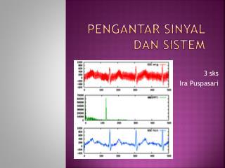 Pengantar sinyal dan sistem