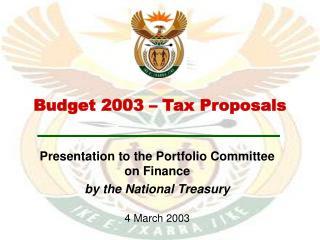 Budget 2003 – Tax Proposals