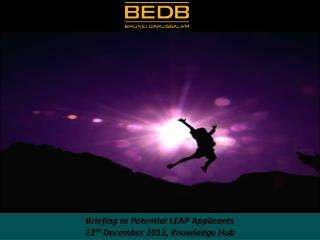 LOCAL ENTERPRISE APPLICATIONS AND PRODUCTS (LEAP) PROGRAM