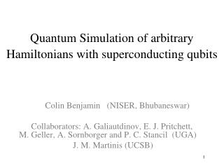 Quantum Simulation of arbitrary Hamiltonians with superconducting qubits