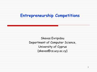 Entrepreneurship Competitions