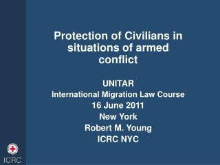 Protection of Civilians in situations of armed conflict  UNITAR