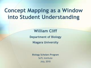 Concept Mapping as a Window into Student Understanding