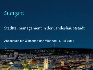 Stuttgart ist der Motor für viele Menschen in dieser Stadt