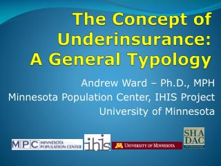 The Concept of Underinsurance: A General Typology