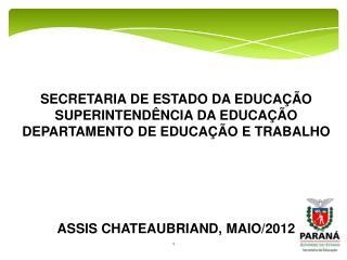 EDUCAÇÃO PROFISSIONAL   I PARTE A LEITURA NA EDUCAÇÃO PROFISSIONAL