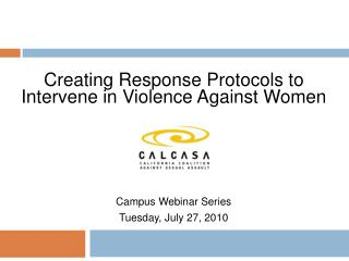 Creating Response Protocols to Intervene in Violence Against Women