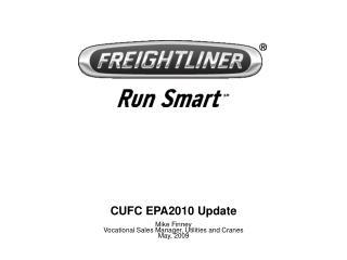 CUFC EPA2010 Update