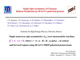 Single Spin Asymmetry of Charged  Hadron Production by 40 GeV/c polarized protons