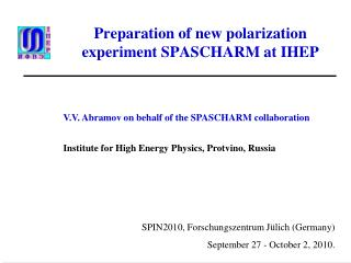 Preparation of new polarization experiment SPASCHARM at IHEP