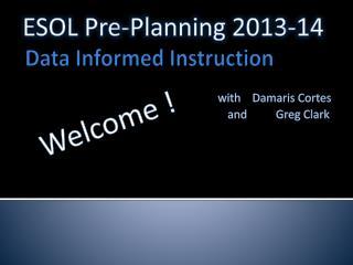 Data Informed Instruction