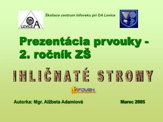 Prezentácia prvouky -                          2. ročník ZŠ
