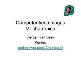 Competentiecatalogus Mechatronica
