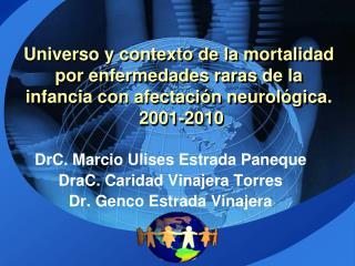 DrC. Marcio Ulises Estrada Paneque DraC. Caridad Vinajera Torres Dr. Genco Estrada Vinajera