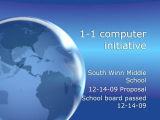 1-1 computer initiative