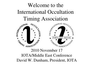 Welcome to the  International Occultation Timing Association
