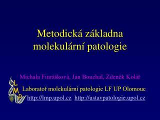 Metodická základna  molekulární patologie