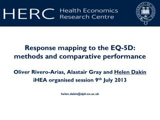 Response mapping to the EQ-5D: methods and comparative performance